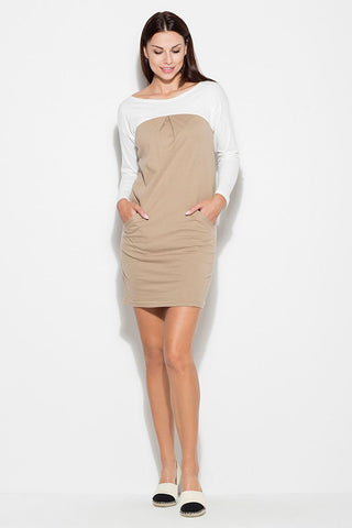 Long Sleeve Jumper Dress With Pockets - FashionPriceKilla