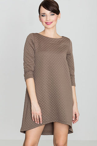 Quilted Asymmetric Tent Dress - FashionPriceKilla