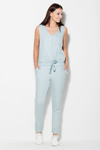 Cotton Sleeveless Jumpsuit - FashionPriceKilla