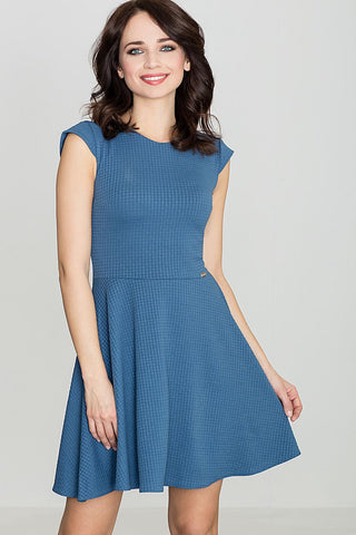 Flared Dress With Folds - FashionPriceKilla
