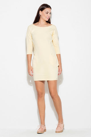 Knit Everyday Dress 3/4 Sleeve - FashionPriceKilla