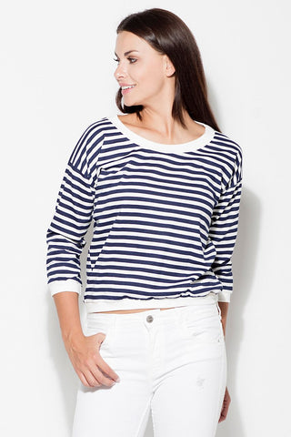Long Sleeve Striped Blouse - FashionPriceKilla