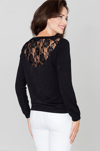 Sweater With Lace Back - FashionPriceKilla