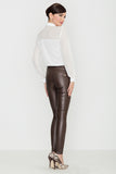 Skinny Elastic Eco Leather Trousers