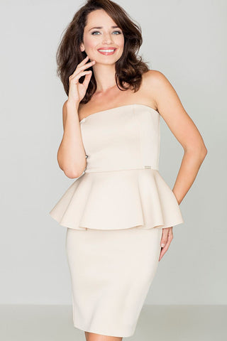 Peplum Strapless Dress - FashionPriceKilla