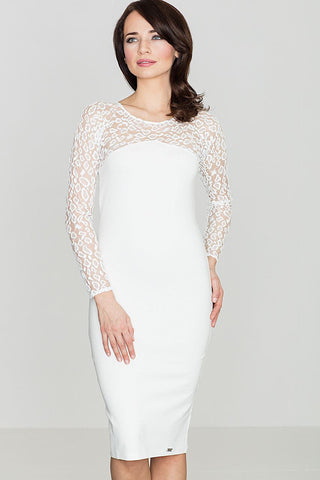 Lace Sleeve Bodycon Dress - FashionPriceKilla