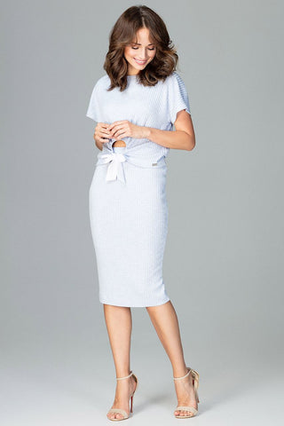 Set - Short Sleeved Top and Midi Skirt - FashionPriceKilla