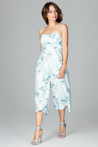 Jumpsuit -3/4 legs and a strapless top - FashionPriceKilla