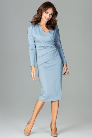 Long Sleeves Midi-Length Dress - FashionPriceKilla