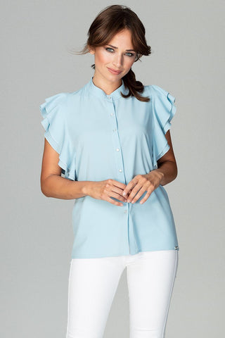 Collarless Feminine Shirt - FashionPriceKilla