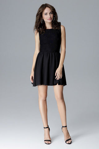 High Neck Skater Mini Dress - FashionPriceKilla