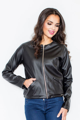 Eco Leather Zip Jacket