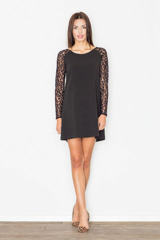 Shift Dress Lace Sleeves