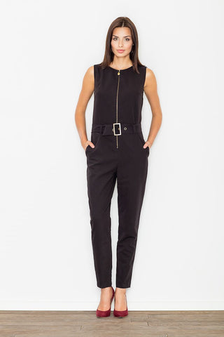 Zip up Jumpsuit with Belt