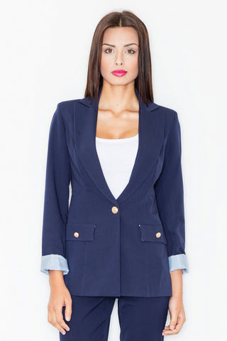 One-Button Blazer - FashionPriceKilla