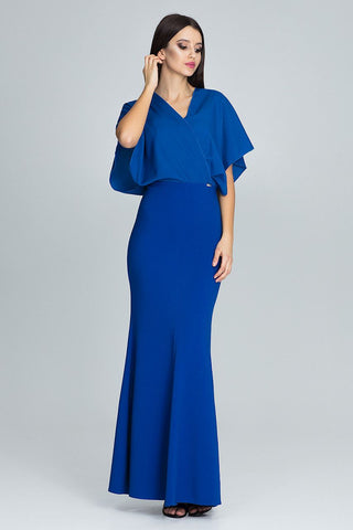 V-Neckline Maxi Casual Dress