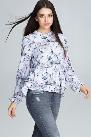 Floral Blouse Long Loose Sleeve - FashionPriceKilla