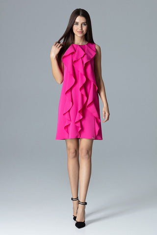 Ruffle Front Mini Dress - FashionPriceKilla