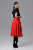 Below the Knee Skater Skirt - FashionPriceKilla