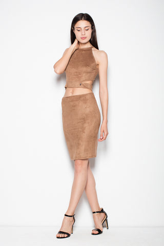 Set of Tube Skirt and High Neck Top - FashionPriceKilla