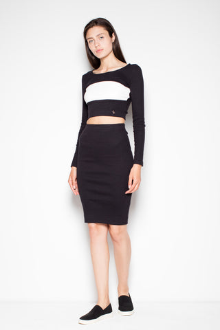 Set - Pencil Skirt and Long Sleeve Top - FashionPriceKilla