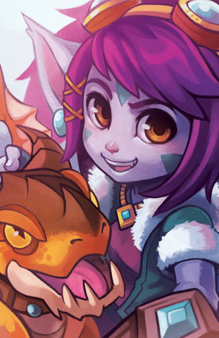 Dragon Trainer Tristana 11x17 Print