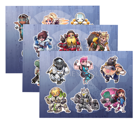 Overwatch Sticker Sheets