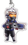 "Solider 76 1.5"" Charm"