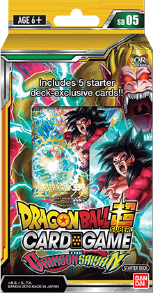 Dragon Ball Super TCG Colossal Warfare: The Crimson Saiyan Starter Deck 05