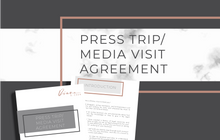 Load image into Gallery viewer, Press Trip/Media Visit Agreement
