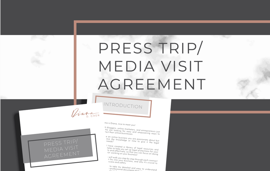 Press Trip/Media Visit Agreement