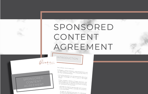 Sponsored Content Agreement