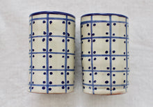 Load image into Gallery viewer, Talavera Tequilero Azul - Small shot glass