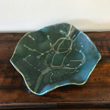 Green Wave Serving Platters