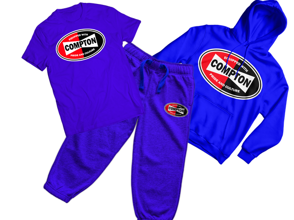 Compton Culture sweat suit combo
