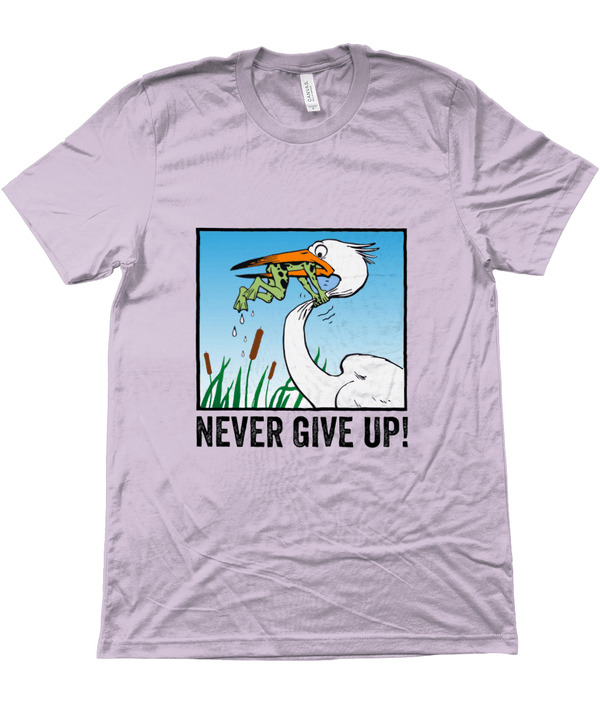 My Hero Buy Suggested Products Heather Prism Lilac / X-Small Never Give Up Tee