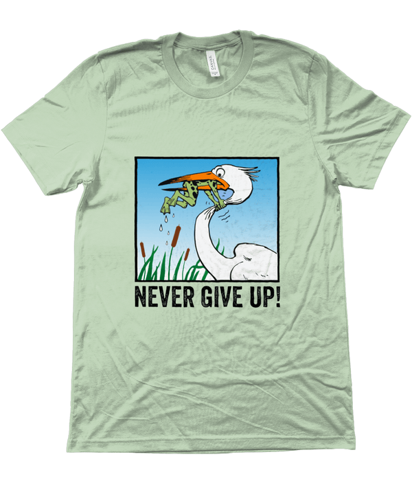 My Hero Buy Suggested Products Heather Prism Mint / X-Small Never Give Up Tee