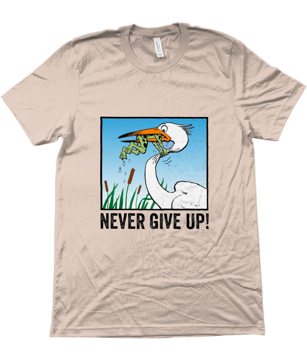 My Hero Buy Suggested Products Heather Prism Peach / X-Small Never Give Up Tee