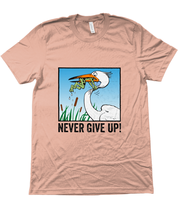 My Hero Buy Suggested Products Heather Prism Sunset / X-Small Never Give Up Tee
