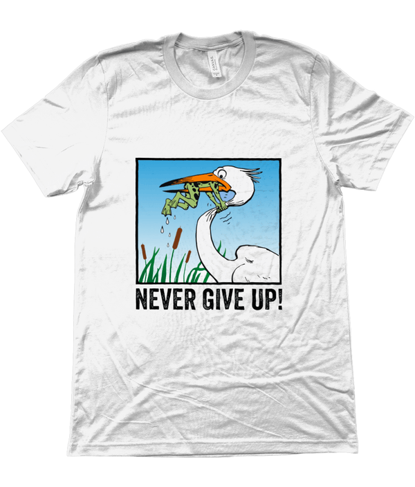 My Hero Buy Suggested Products White / X-Small Never Give Up Tee