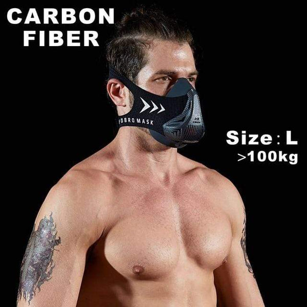 My Hero Buy United States / Carbon fiber S FDBRO sports mask Fitness ,Workout ,Running , Resistance ,Elevation ,Cardio ,Endurance Mask For Fitness training sports mask 3.0