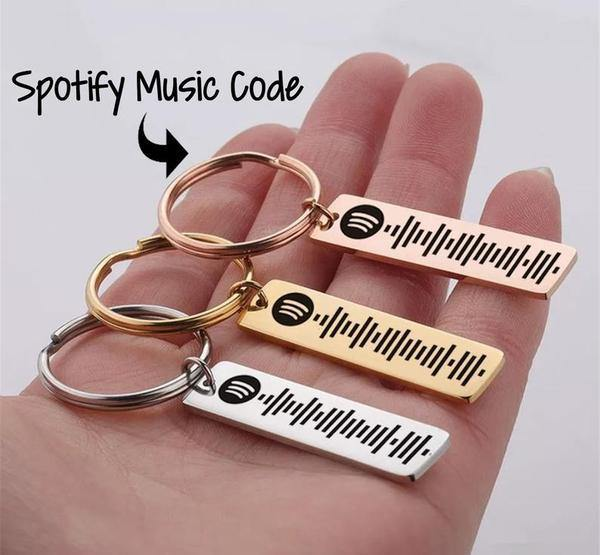 Fortheday Personalized Spotify Code Key Chain Ring Engraving Scannable Favorite Spotify Music Song Code Keychain Ring Birthday Gifts for Boyfriend//Girlfriend