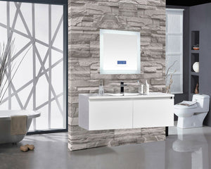 "Encore BLU102 LED Illuminated Bathroom Mirror with Built-In Bluetooth Speaker with Blue screen - 24"" x 27"""