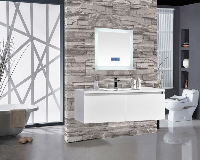 Encore BLU102 LED Illuminated Bathroom Mirror with Built-In Bluetooth Speaker with Blue screen - 24