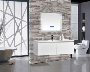 "Encore BLU102 LED Illuminated Bathroom Mirror with Built-In Bluetooth Speaker with Blue screen - 36"" x 27"""