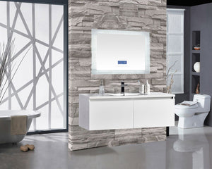 "Encore BLU102 LED Illuminated Bathroom Mirror with Built-In Bluetooth Speaker with Blue screen - 48"" x 27"""