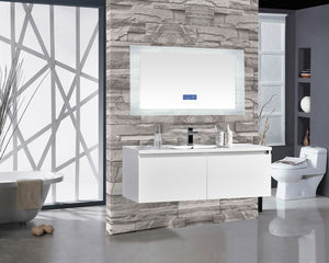 "Encore BLU102 LED Illuminated Bathroom Mirror with Built-In Bluetooth Speaker with Blue screen - 60"" x 27"""