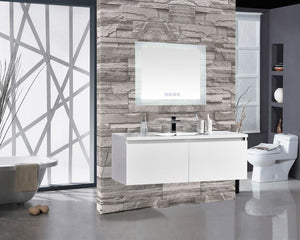 "Encore BLU103 LED Illuminated Bathroom Mirror with Built-In Bluetooth Speaker - 36"" x 27"""