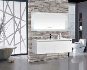 "Encore BLU103 LED Illuminated Bathroom Mirror with Built-In Bluetooth Speaker - 70"" x 27"""
