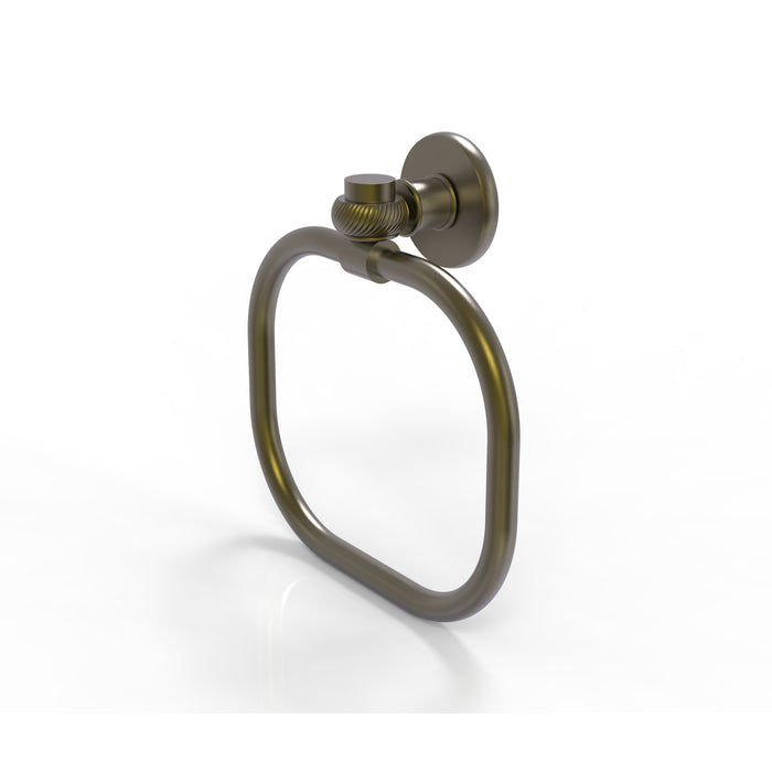 Allied Brass - Continental Collection Towel Ring with Twist Accents